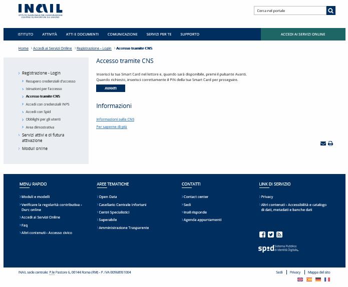 1 inail-min guida accesso inail per durc online telematico - studiopcg, consulenze immobiliari in firenze, pezzoli e carniani geometri