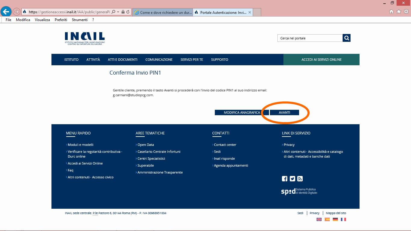 11 inail bisguida accesso inail per durc online telematico - studiopcg, consulenze immobiliari in firenze, pezzoli e carniani geometri