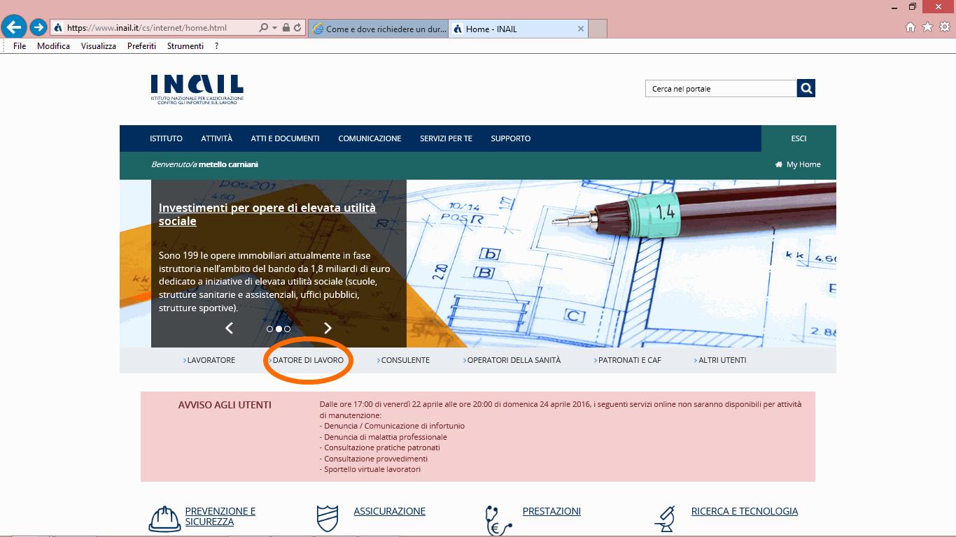 16 inail bis-minguida accesso inail per durc online telematico - studiopcg, consulenze immobiliari in firenze, pezzoli e carniani geometri