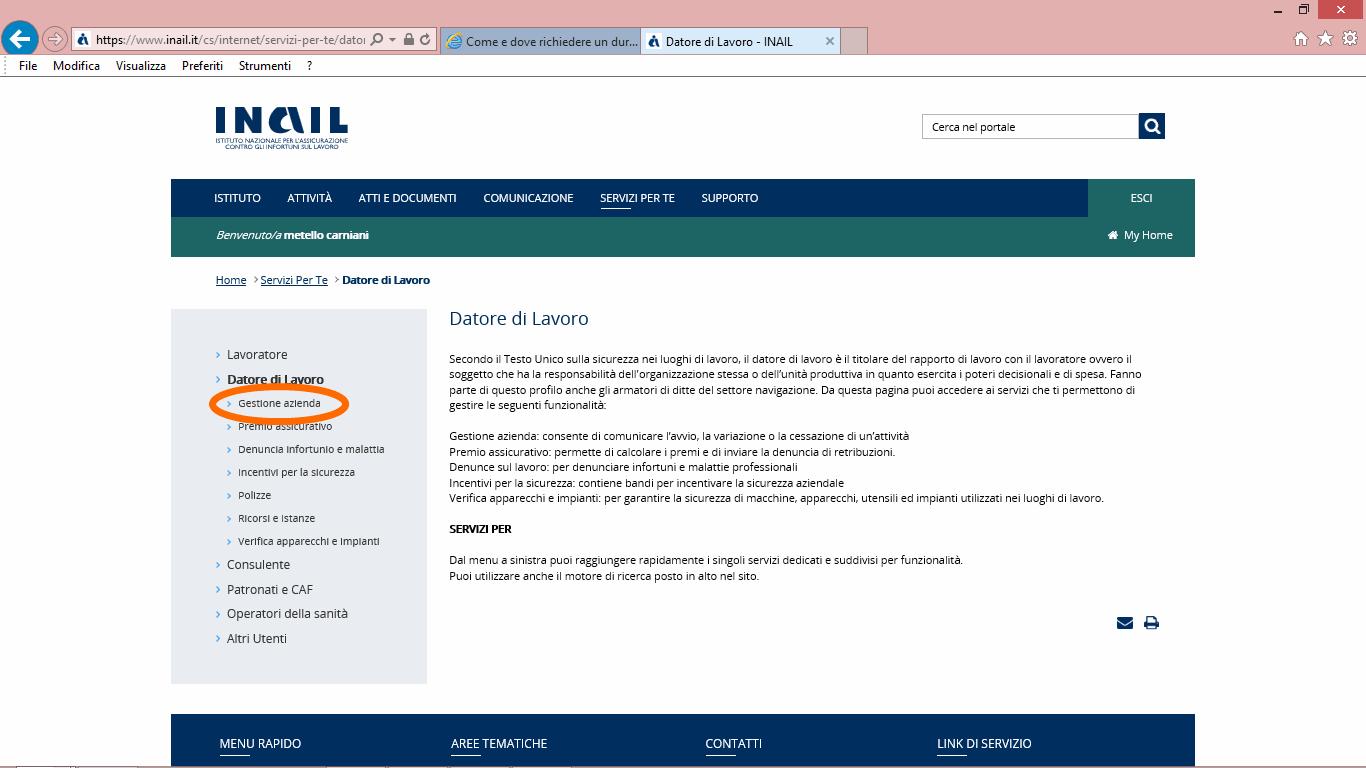 17 inail 2guida accesso inail per durc online telematico - studiopcg, consulenze immobiliari in firenze, pezzoli e carniani geometri